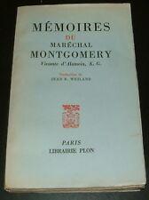 MEMOIRES MARECHAL MONTGOMERY / ROMMEL CAEN ARNHEM EL ALAMEIN