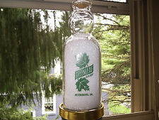 Greenleaf Dairy Quart Baby Face From Petersburg V.A. Green Pyro good condition.
