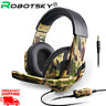 Camouflage Gaming Ps4 Pc Headphones Stereo Headset Wired Noise Cancelling Mic