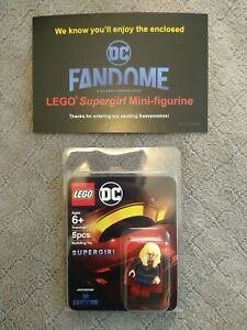 DC Comics Fandome LEGO Supergirl Comic Con 2020 SDCC Minifigure Limited Edition