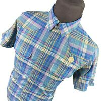 Patagonia Brush Creek Ranch Short Sleeve Plaid Snap Button Shirt Mens Medium M