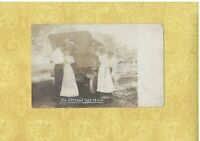 RPPC 1908-29 RPPC Real Photo postcard MARRIAGE PROPOSAL the ETERNAL QUESTION