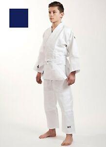 IPPON GEAR Kinder Judoanzug Beginner Weiss Blau 100-160 cm Judo Ju Jutsu Kimono