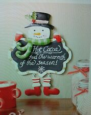 SNOWMAN HOLIDAY CHALKBOARD WALL ART LIVING ROOM KITCHEN CHRISTMAS HOME DECOR