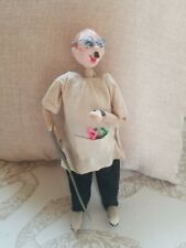 """Vintage Klumpe & Roldan Style Doctor Doll 9.5"""" with Saw"""