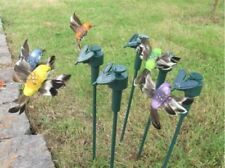 Solar  Powered Fluttering Hummingbird, Real Feather Wings and Tails