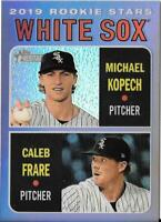 2019 Topps Heritage Chrome Purple Refractor MICHAEL KOPECH/CALEB FRARE White Sox