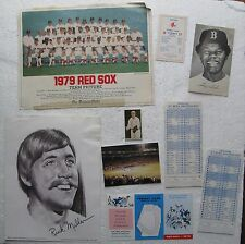 Red Sox 1979 Team Picture, 1970's Schedules, 1977 & 1978 All Star Game Ballots +