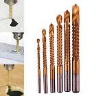 6PCS HSS HIGH SPEED STEEL TITANIUM COATED DRILL BIT SET 3/4/5/6/6.5/8mm