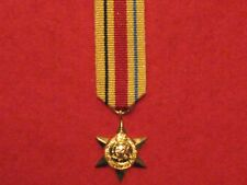 Miniature World War 2 Africa Star Medal with ribbon in Mint Condition