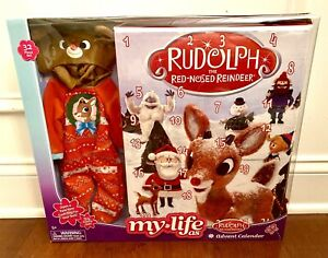 My Life As RUDOLPH ADVENT CALENDAR Reindeer Outfit For Doll CHRISTMAS New