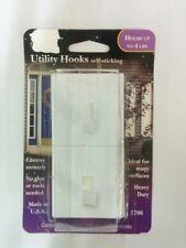 """Magic Mounts Utility Hooks, 2"""" X 2"""", White, 2 Hooks"""