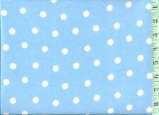 "1/2 yard FLANNEL 3/8"" White Dots on Baby Blue BTHY"