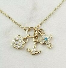 "Monet Lucky Charms 16+2"" Gold Necklace"