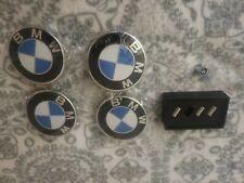 Set of 4pcs for BMW Wheel Center Caps 68mm + air caps 2 1/2