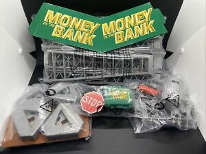 WWE MONEY IN THE BANK PLAYSET ACCESSORIES SCAFOLDING TOWER LADDERS BRIEFCASE