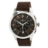 Victorinox Swiss Army Men's Watch Alliance Chronograph Brown Strap 241749