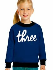 three sweatshirt shirt USA- girls Queen Apparel cotton fleece girls sweatshirt