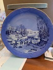 Vintage Currier & Ives American Winter Scenes, Morning Hhi 1981 Plate