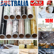10M Marble Self Adhesive Wallpaper Kitchen Countertop Wall Sticker Waterproof AU