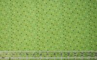 By the 1/2 yard cotton quilt fabric Tiny Mixed Dots on Lime green apparel sewing