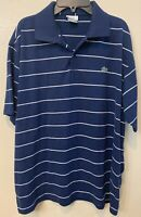 Mens Lacoste Striped Performance Short Sleeve Golf Polo Shirt Euro Size 7 XL