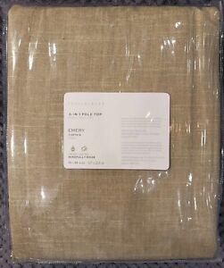 "Pottery Barn Emery Linen/Cotton Rod Pocket Curtain, 50"" x 84"", Walnut Color"