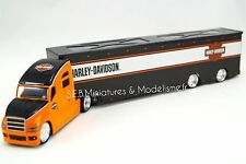 CAMION DAIMLER TRANSPORT HARLEY-DAVDSON ORANGE 1/64 MAISTO