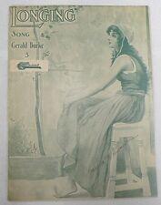"""Sheet Music """" Longing """" Copyright 1920"""