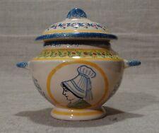 Sucrier pot couvert céramique Lisieux Quimper