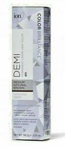 ion Color Intensive Shine 4N Medium Natural Brown Demi Permanent Hair Color NIB