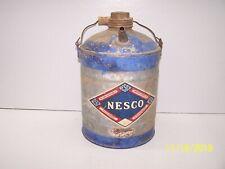 Vintage Nesco Tin Gas Can