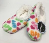 New Kids Snoozies BEST FRIEND BFF Heart Slippers - Soft & Super Comfy - SZ 11-12