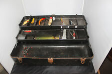 Vintage Tackle Box with Vintage Wooden Lure