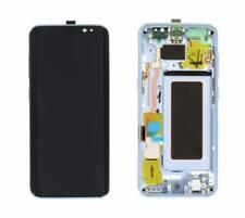 SAMSUNG Display LCD Originale + Touch Screen + Frame Per Galaxy S8 SM-G950F blue