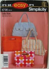 Simplicity 4736 It's So Easy Totes Bags Sacs Bolsos Sewing Pattern