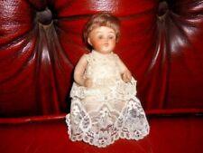 Vintage German Bisque Head Doll Sleepy Eyes Costume De Maison De Poupées