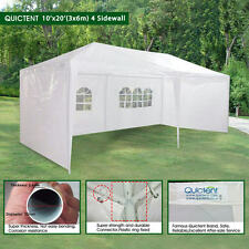 Quictent 10' x 20' Outdoor Gazebo Canopy Wedding Party Tent with 4 Sidewalls