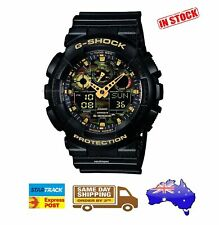 af97c167335b Casio G-Shock Analogue Digital Mens Camouflage Black Gold Watch GA-100CF