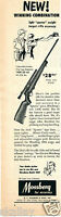 1956 Print Ad of Mossberg Sporter 140K Model .22 Rifle