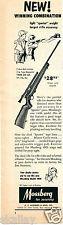 1956 Print Ad of Mossberg Sporter 140K Model .22 Rifle