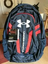 UNDER ARMOR HUSTLE BACKPACK ACADEMY/RED