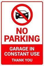 2pcs No Parking Sign Garage in Constant Use Adhesive Stickers 140x210 Mm Np2130