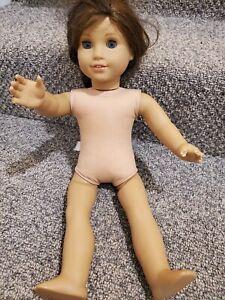 """2013 American Girl Doll Reddish Brown Hair Blue Eyes Freckles 18"""" NEEDS REPAIR!!"""