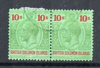 British Solomon Islands 1925 10s FU CDS horizontal pair