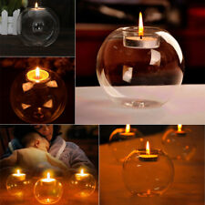 80/100mm Clear Glass Bauble Tea Light Candles Holder Crystal Vase Wedding Party