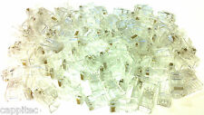 PACK OF 100 QUALITY 8PIN 8P8C RJ45 NETWORK CONNECTOR CRIMP PLUGS / CAT5 CAT5e