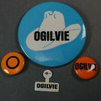Richard Ogilvie Illinois (R) Governor 1968-72 political 4 Pin Button Lot