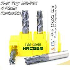 End Mill Tool Set 4 Flute Carbide Endmill CNC Parts - HRC55 mills 2pcs: 18~20mm