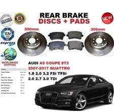 para AUDI A5 Coupe 1.8 2.0 2.7 3.0 3.2 07-17 Disco freno Trasero Set + PASTILLAS